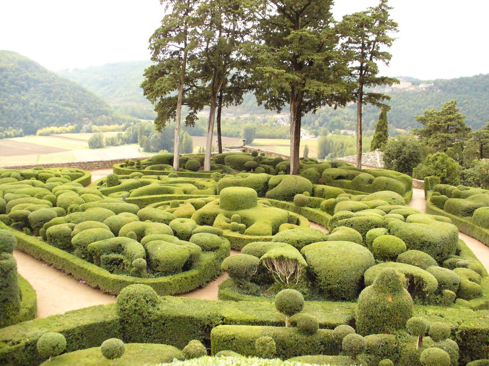 When  you visit the Dordogne you must visit this beautiful garden Marqueyssac and also its château