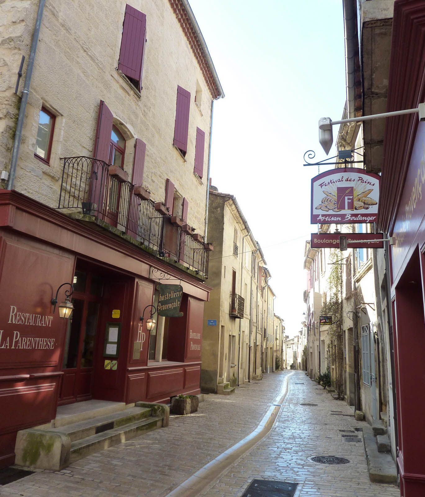 French Cottages chooses the best locations in France including this lovely pedestiranised street in Uzès, Provence where we have two apartments for holiday rental