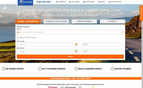 Use Global Cars to book your next hire or lease car