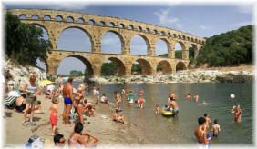 If there is one thing you must do when you holiday in France then that's swim beneath a 2000 year old Roman Aqueduct, the Pont du Gard, which you can do if stay with French Cottages in Uzès just down the road!